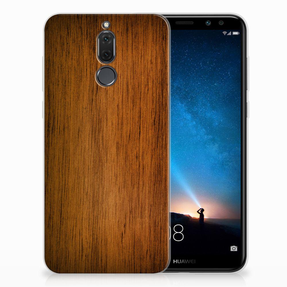 Huawei Mate 10 Lite Uniek TPU Hoesje Donker Hout