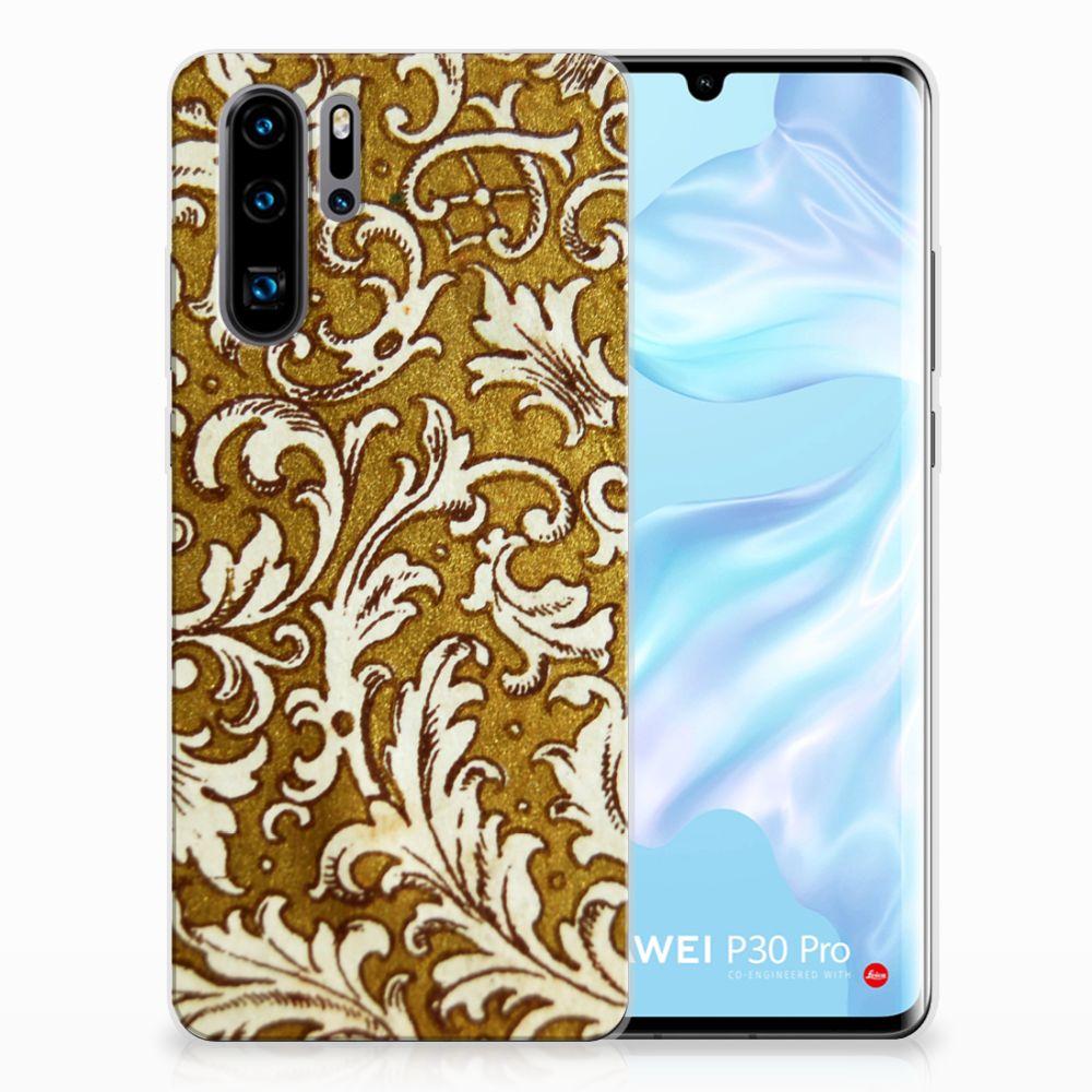 Siliconen Hoesje Huawei P30 Pro Barok Goud