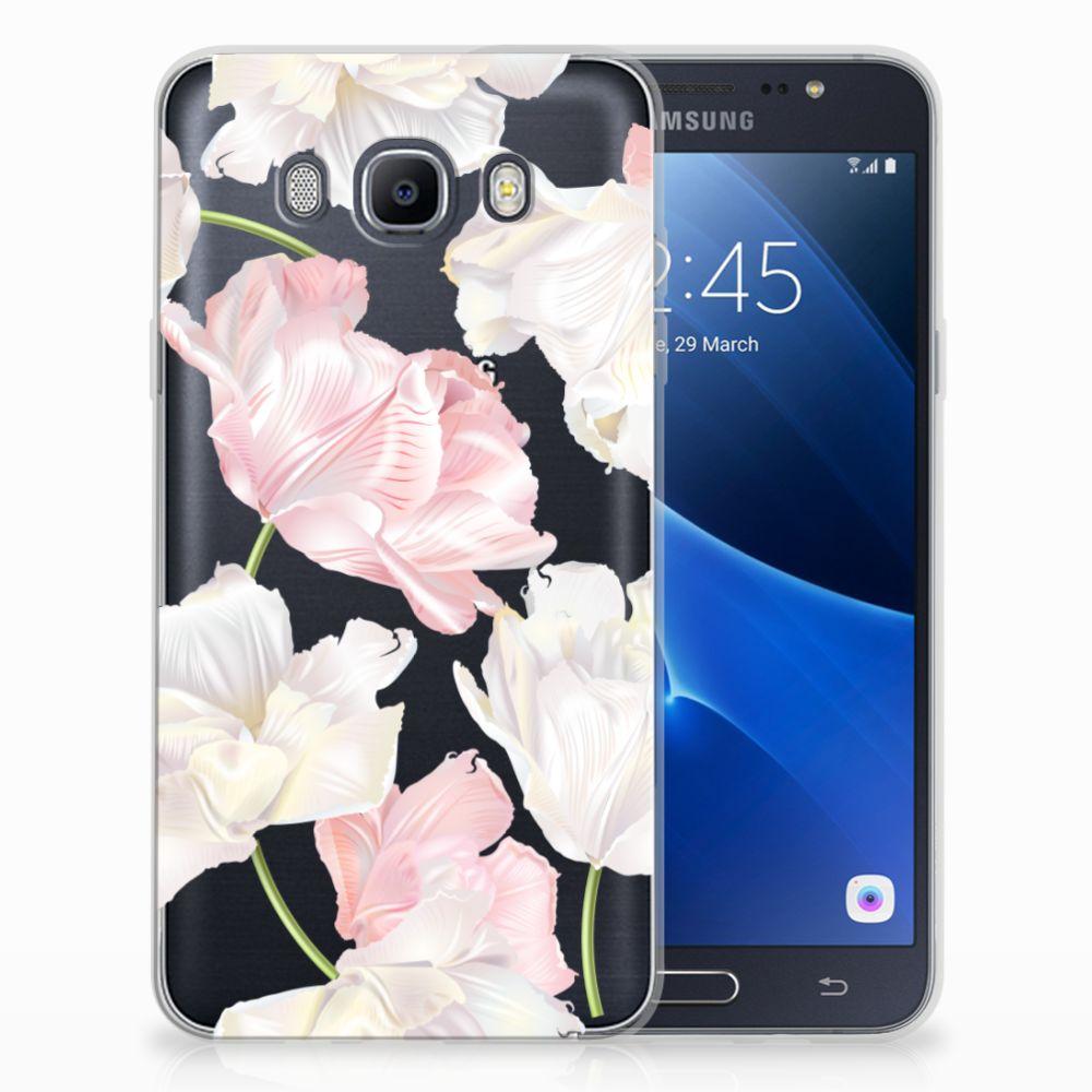 Samsung Galaxy J7 2016 TPU Hoesje Design Lovely Flowers