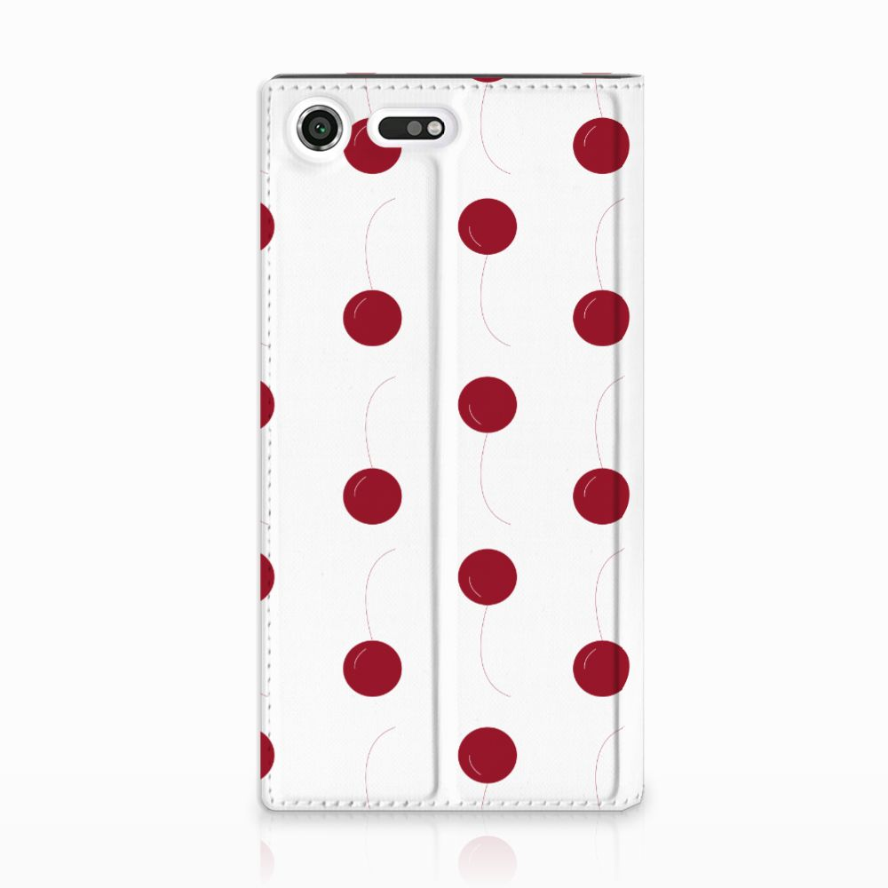 Sony Xperia XZ Premium Standcase Hoesje Design Cherries