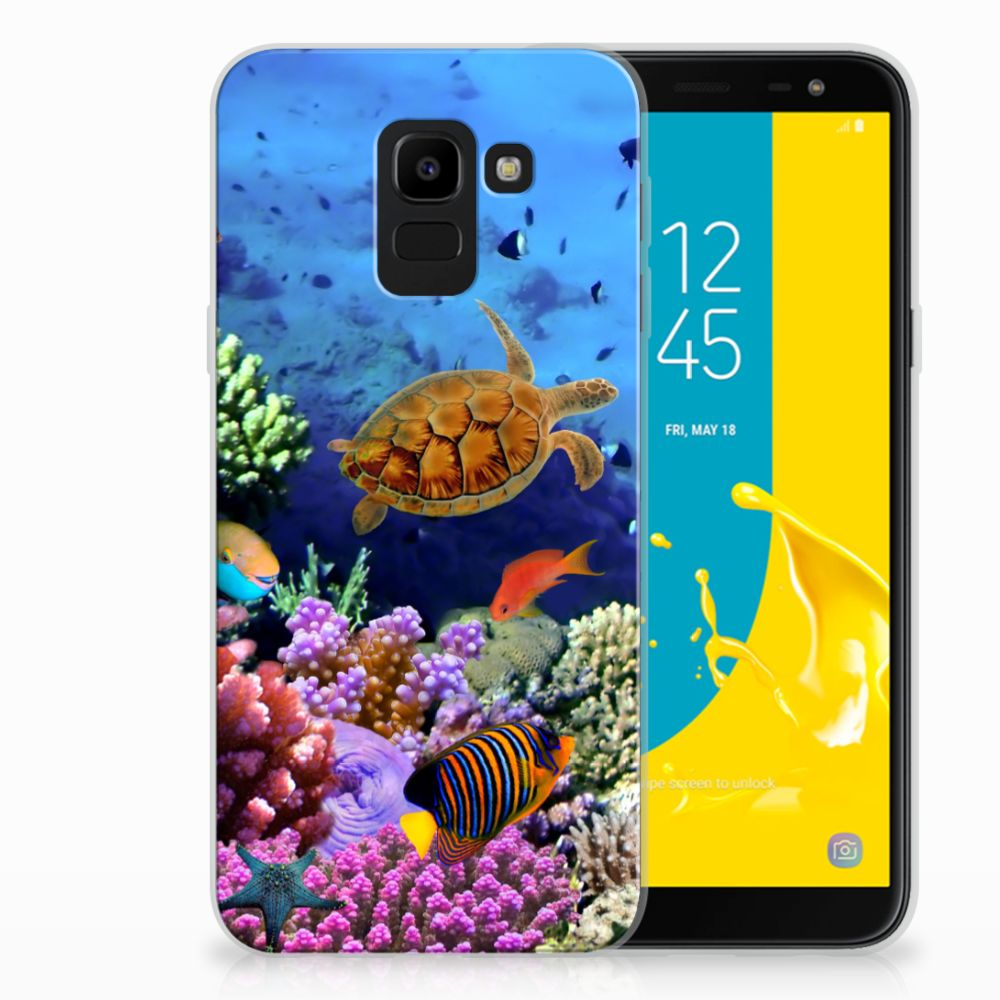 Samsung Galaxy J6 2018 TPU Hoesje Design Vissen