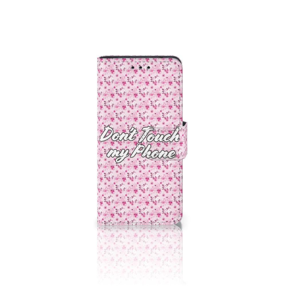 Samsung Galaxy S5 Mini Uniek Boekhoesje Flowers Pink DTMP