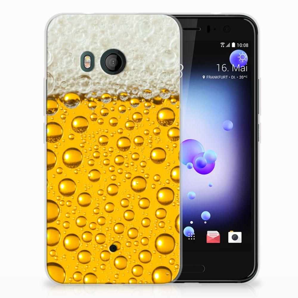 HTC U11 Siliconen Case Bier