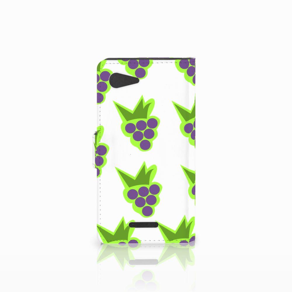 Sony Xperia E3 Book Cover Druiven