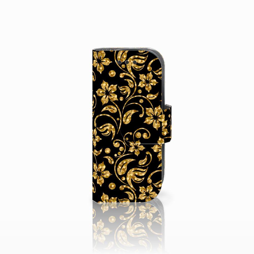 Nokia 3310 (2017) Boekhoesje Design Gouden Bloemen