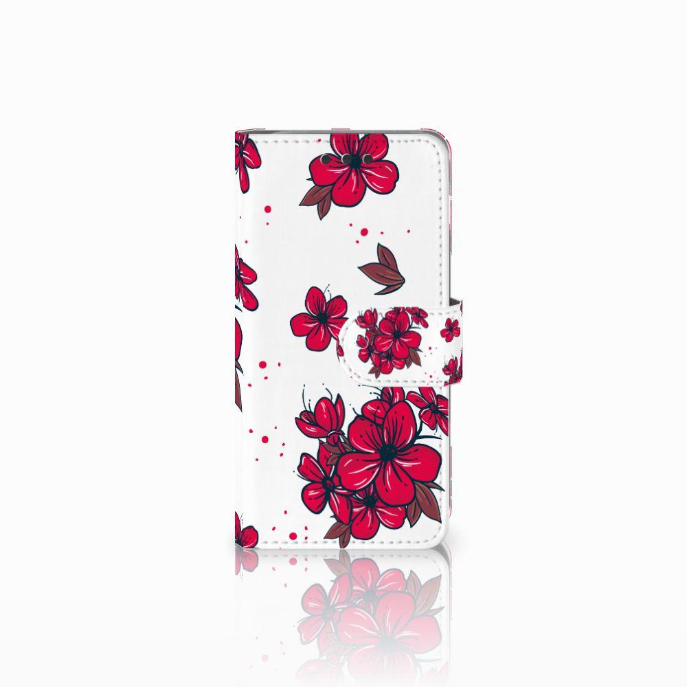 Samsung Galaxy A3 2016 Boekhoesje Design Blossom Red