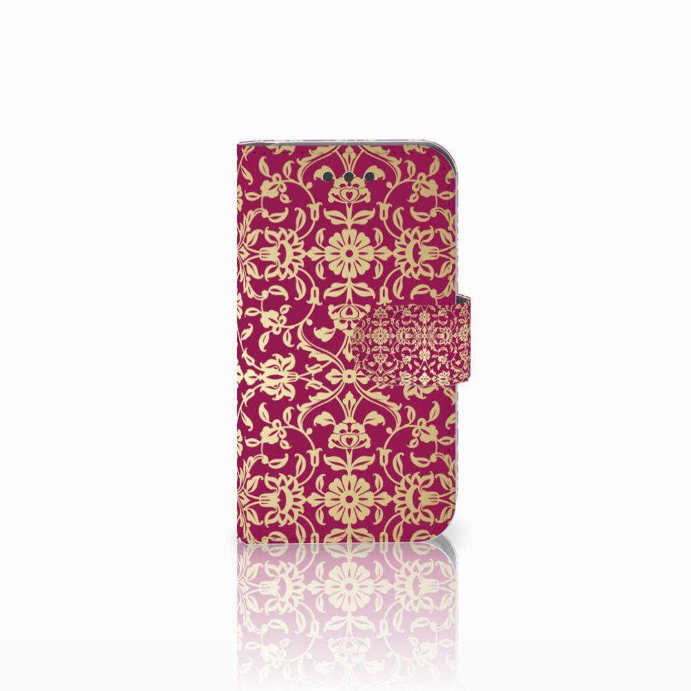 Wallet Case Samsung Galaxy Core 2 Barok Pink