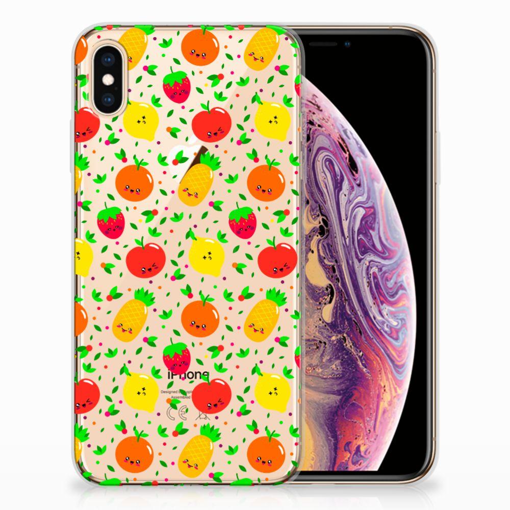 Apple iPhone Xs Max TPU Hoesje Design Fruits