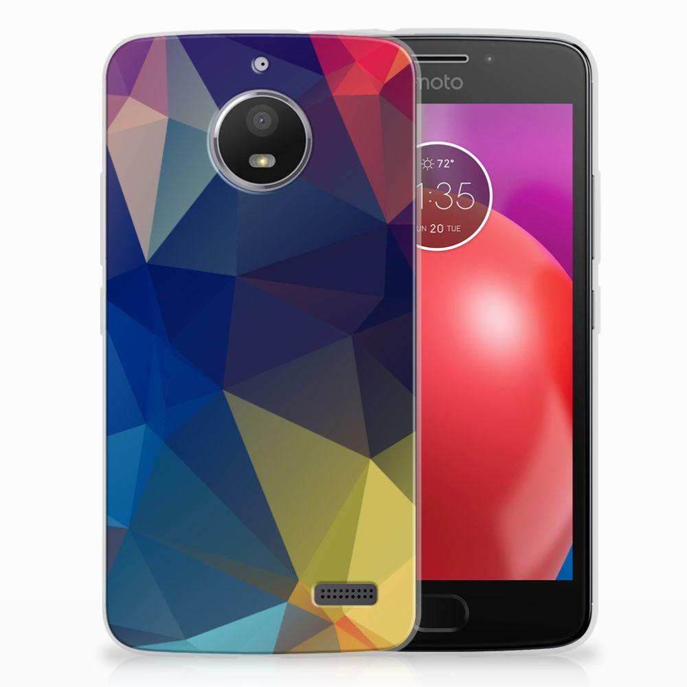 Motorola Moto E4 TPU Hoesje Polygon Dark