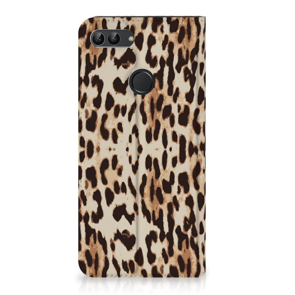 Huawei P Smart Uniek Standcase Hoesje Leopard