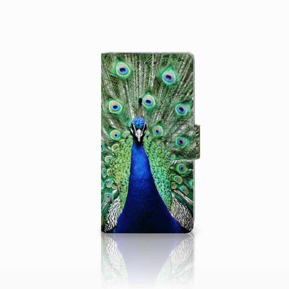 Sony Xperia X Performance Telefoonhoesje met Pasjes Pauw