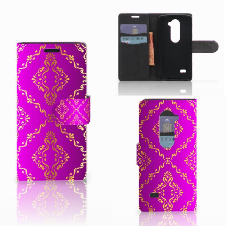 Wallet Case LG Leon 4G Barok Roze