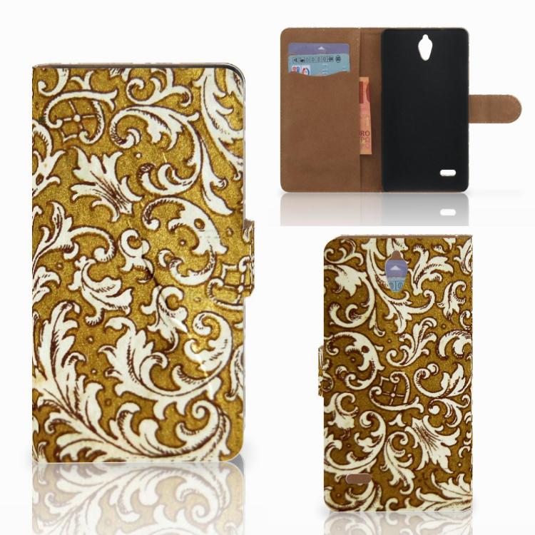 Wallet Case Huawei Ascend G700 Barok Goud