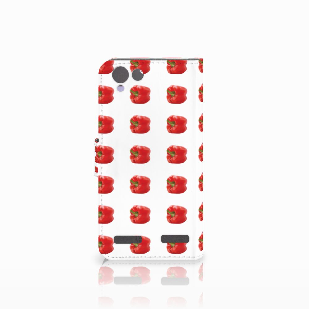 Lenovo Vibe K5 Book Cover Paprika Red