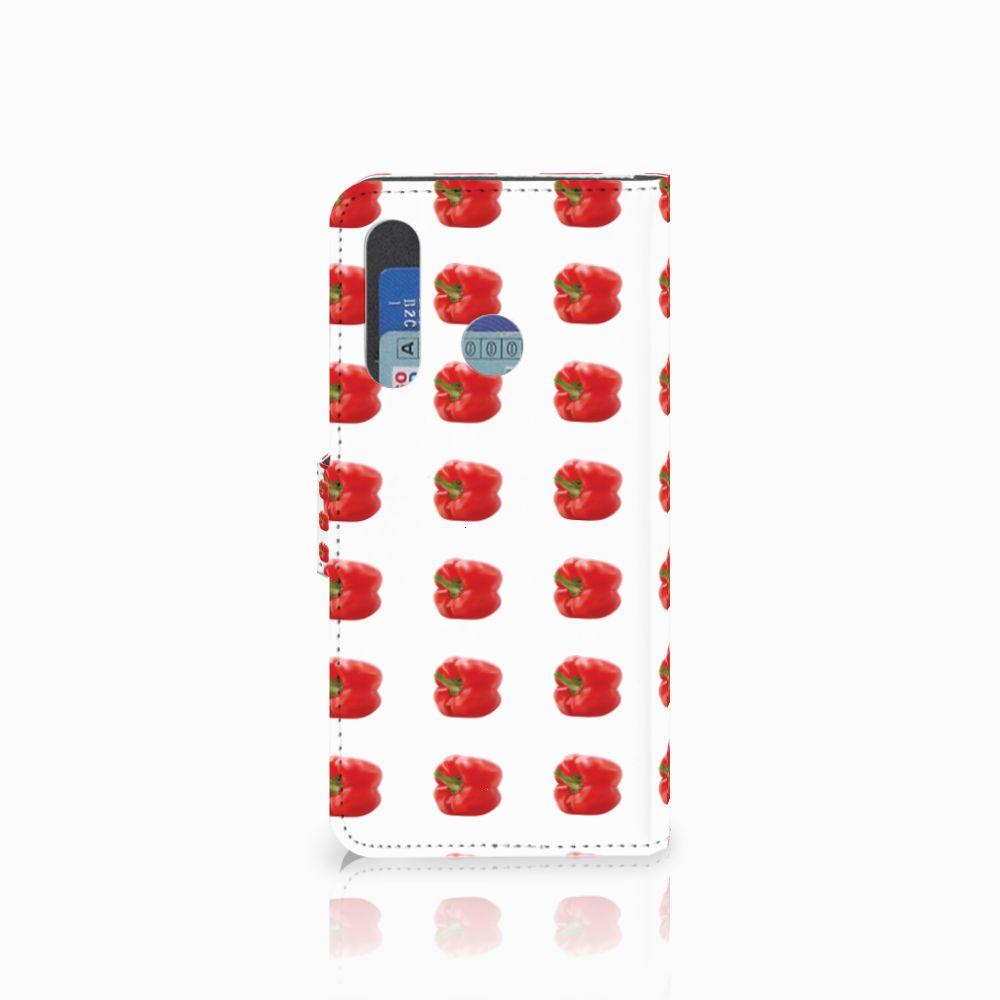 Huawei Nova 4 Book Cover Paprika Red