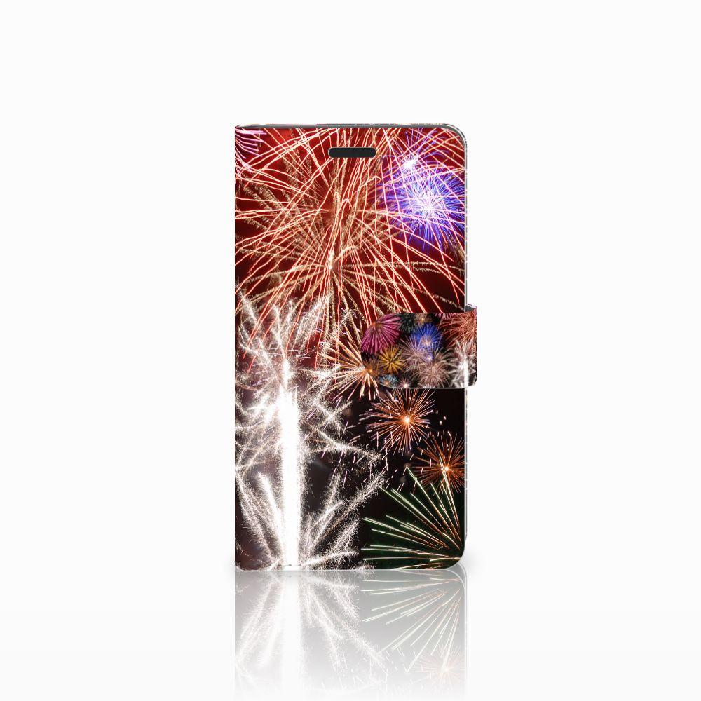 Samsung Galaxy A7 2015 Boekhoesje Design Vuurwerk