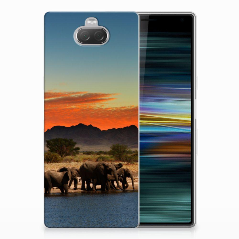 Sony Xperia 10 Plus TPU Hoesje Olifanten