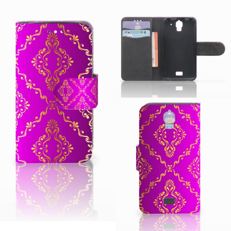 Wallet Case Huawei Y360 Barok Roze