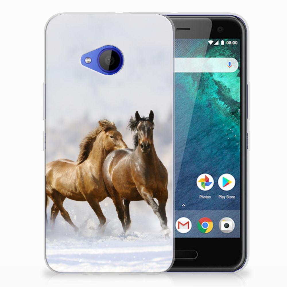 HTC U11 Life TPU Hoesje Paarden