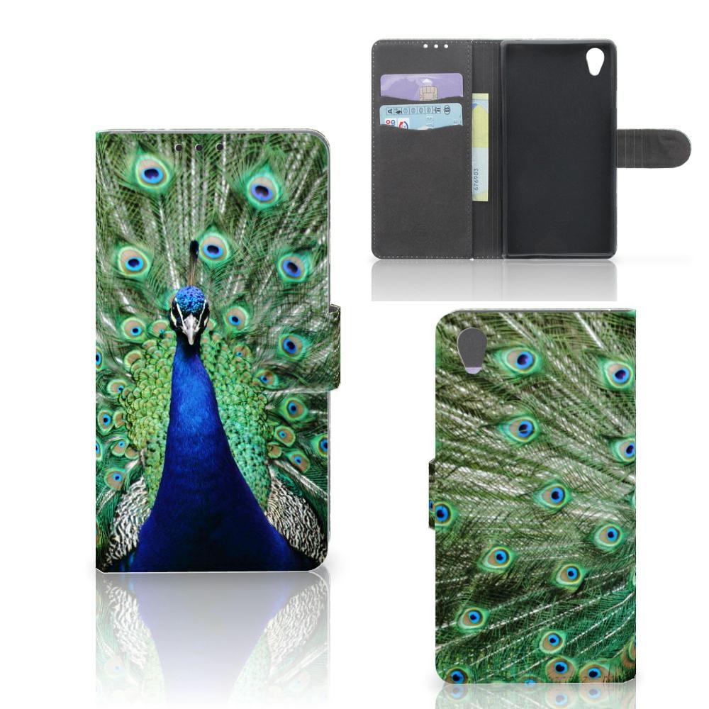 Sony Xperia Z1 Telefoonhoesje met Pasjes Pauw