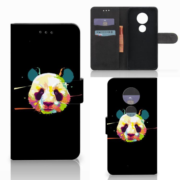 Motorola Moto E5 Play Leuke Hoesje Panda Color