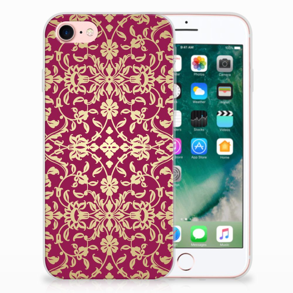 Apple iPhone 7 | 8 TPU Hoesje Design Barok Pink