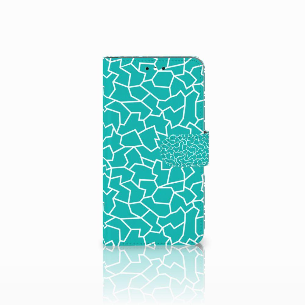 Motorola Moto G4 | G4 Plus Boekhoesje Design Cracks Blue