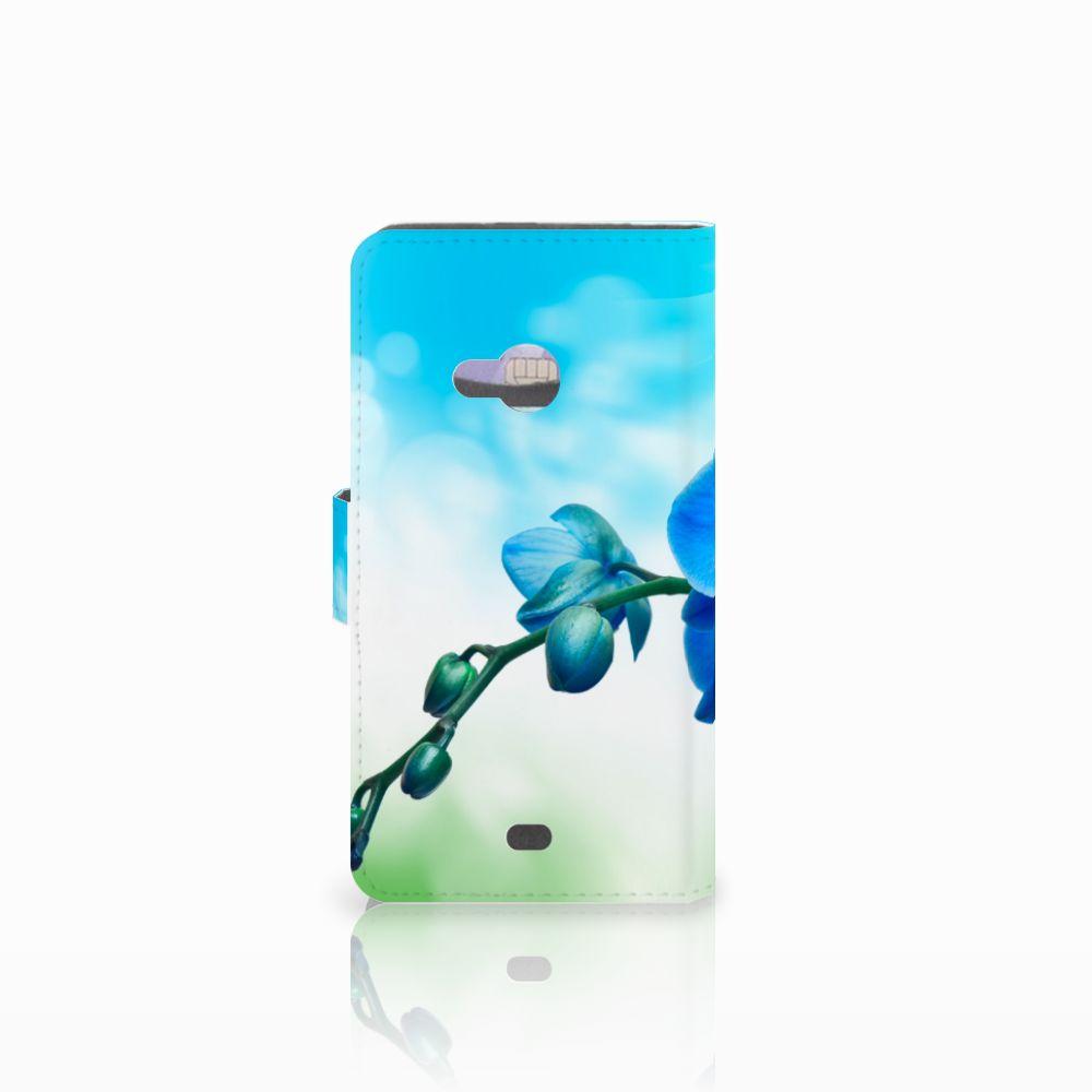 Microsoft Lumia 535 Hoesje Orchidee Blauw