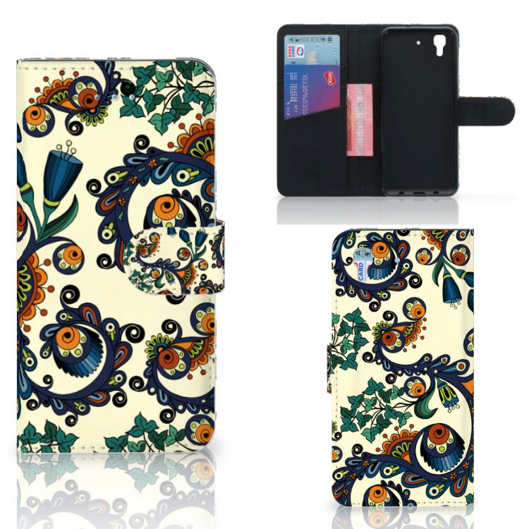 Wallet Case Honor 4A | Y6 Barok Flower