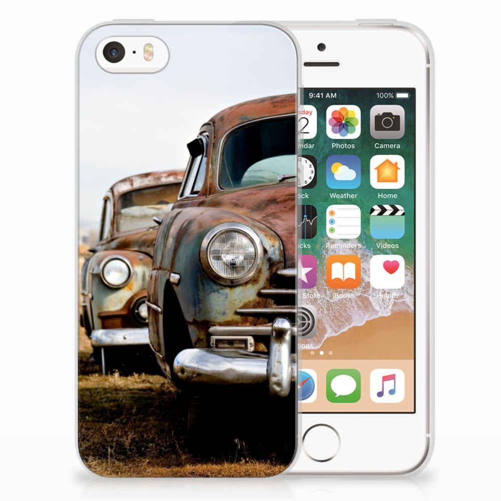 Apple iPhone SE | 5S Uniek TPU Hoesje Vintage Auto