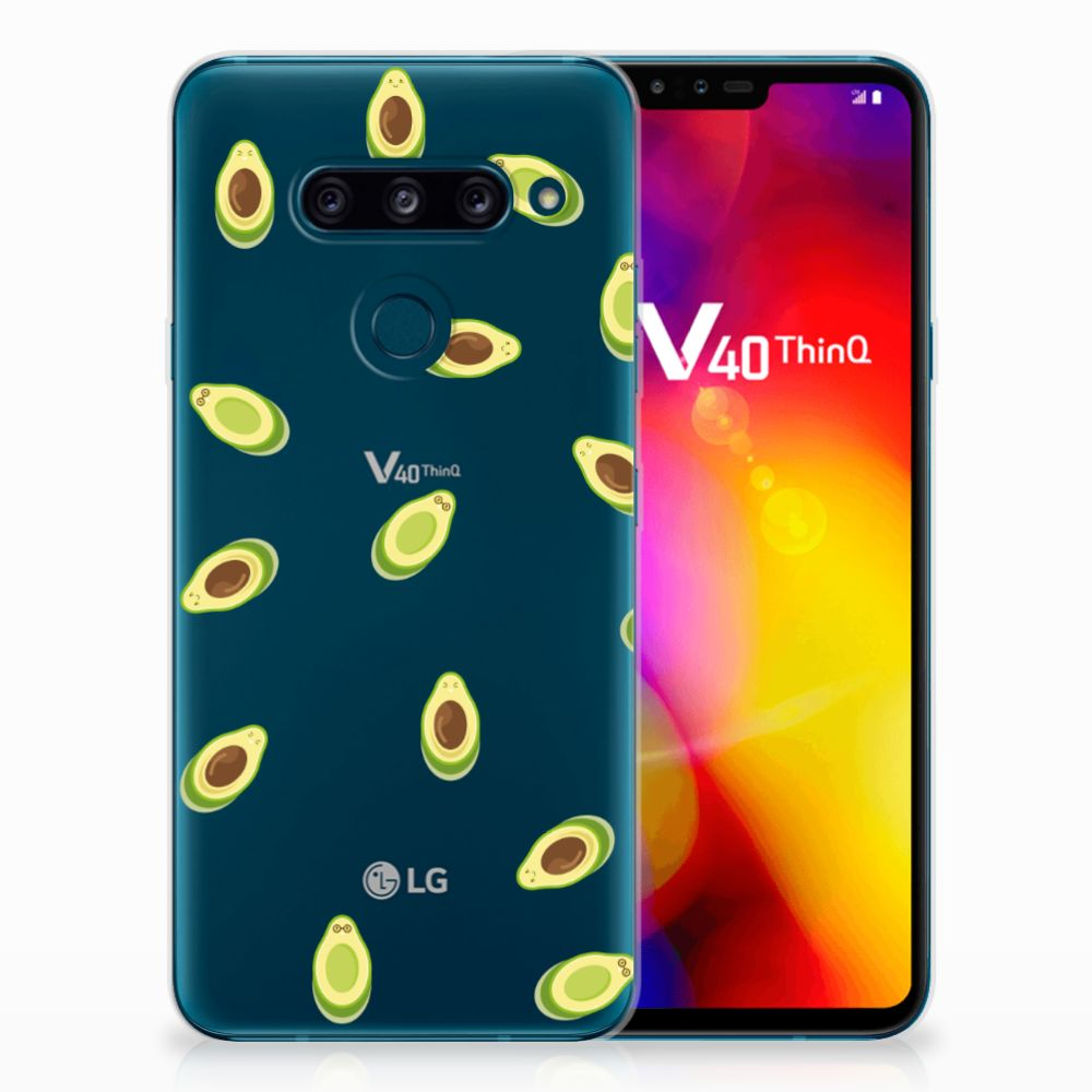LG V40 Thinq Siliconen Case Avocado