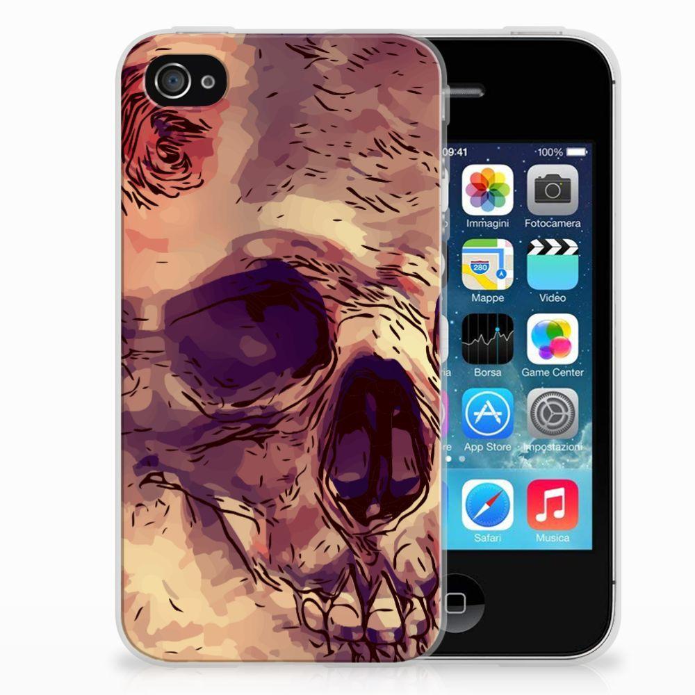 Apple iPhone 4 | 4s Uniek TPU Hoesje Skullhead