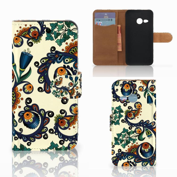 Wallet Case HTC One Mini 2 Barok Flower
