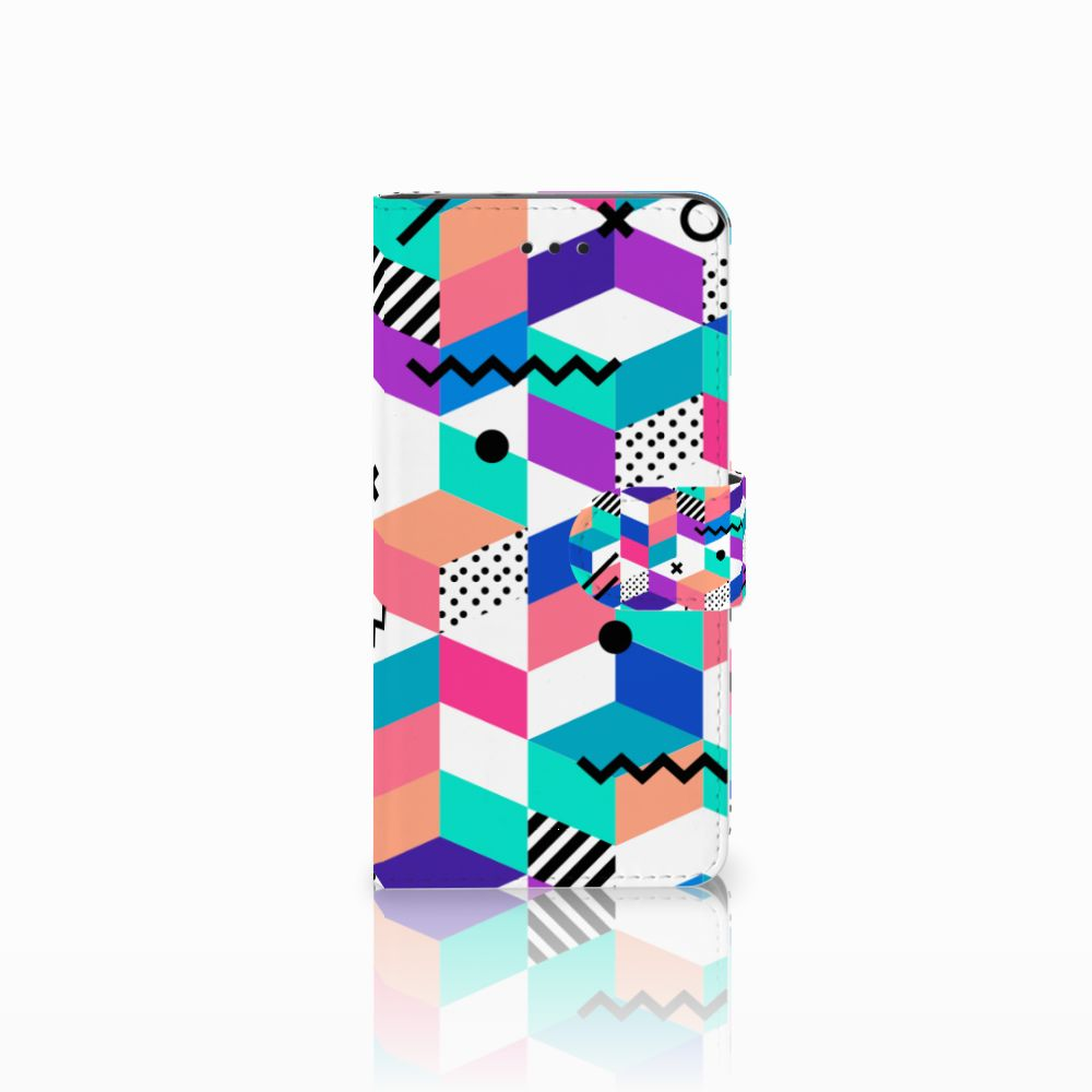 Huawei Y3 2017 Boekhoesje Design Blocks Colorful