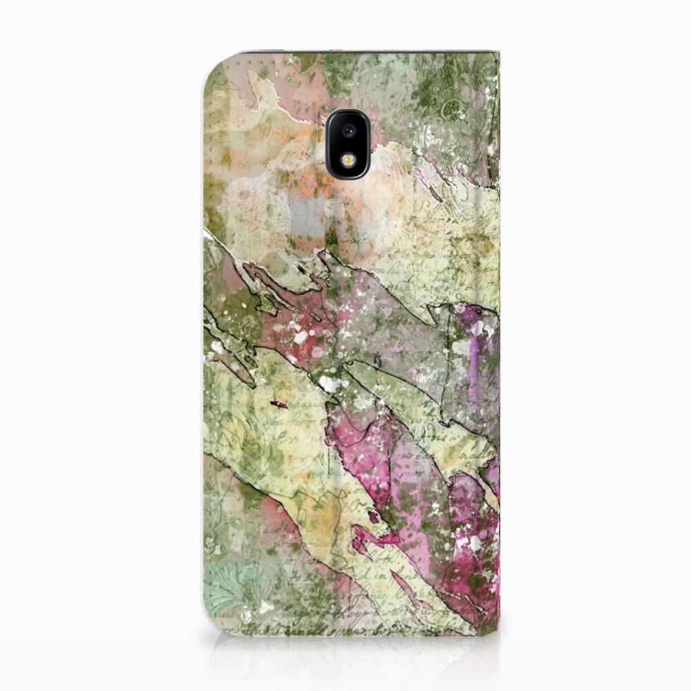 Samsung Galaxy J5 2017 Uniek Standcase Hoesje Letter Painting