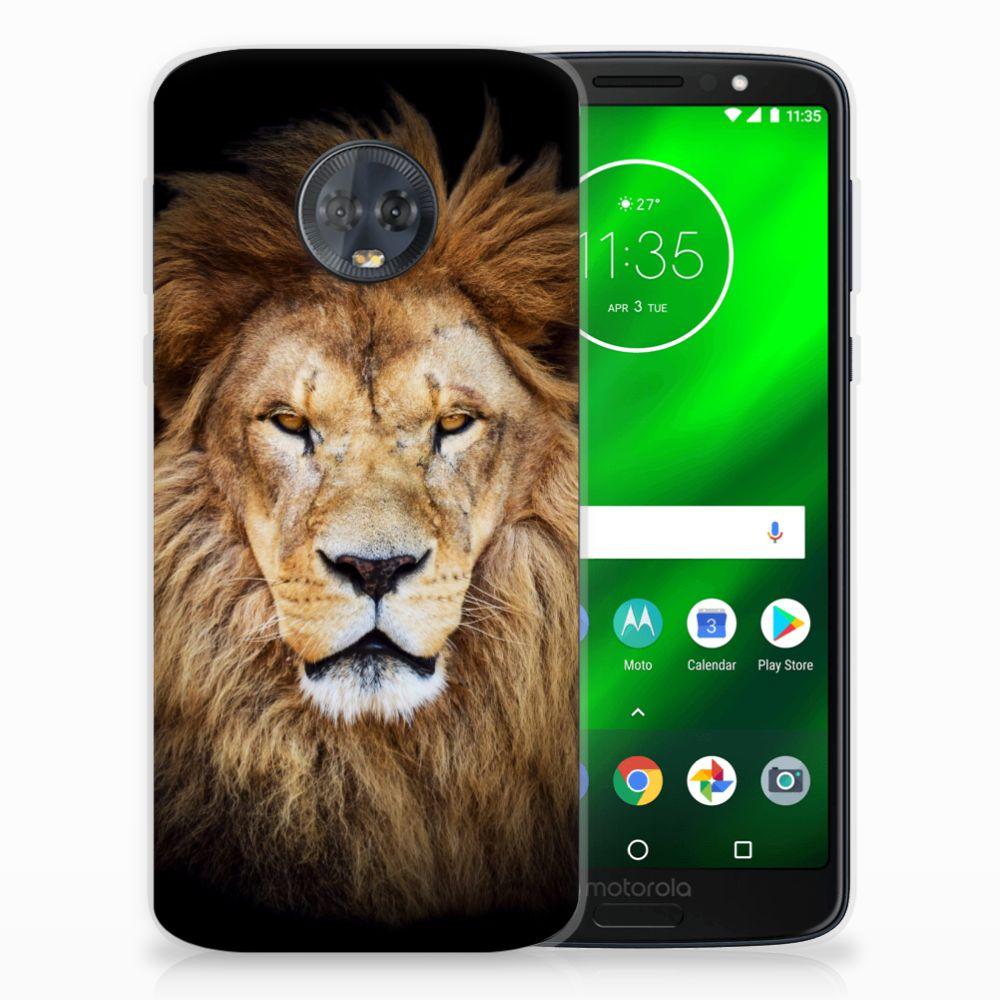 Motorola Moto G6 Plus TPU Hoesje Design Leeuw