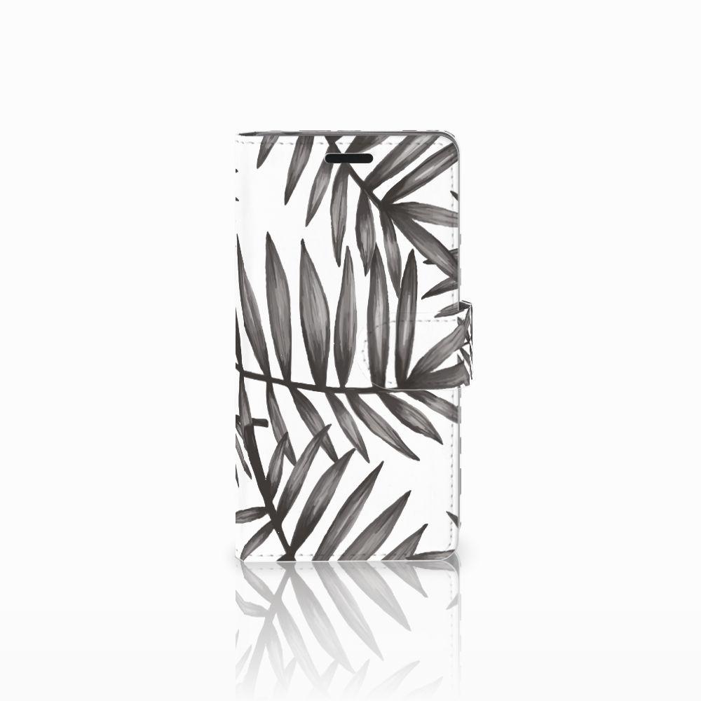 Sony Xperia E3 Uniek Boekhoesje Leaves Grey