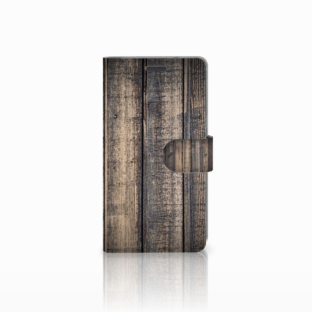 LG X Power Boekhoesje Design Steigerhout