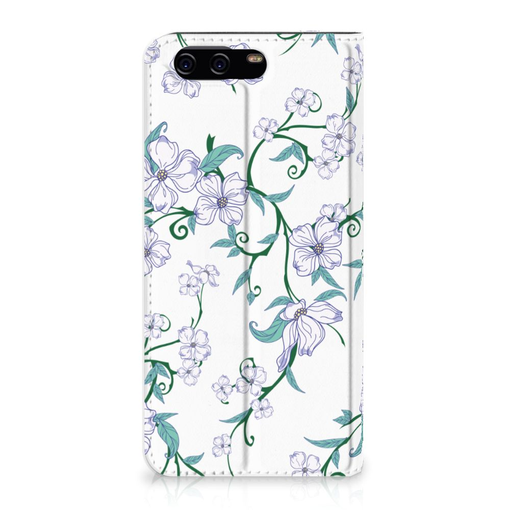Huawei P10 Uniek Standcase Hoesje Blossom White
