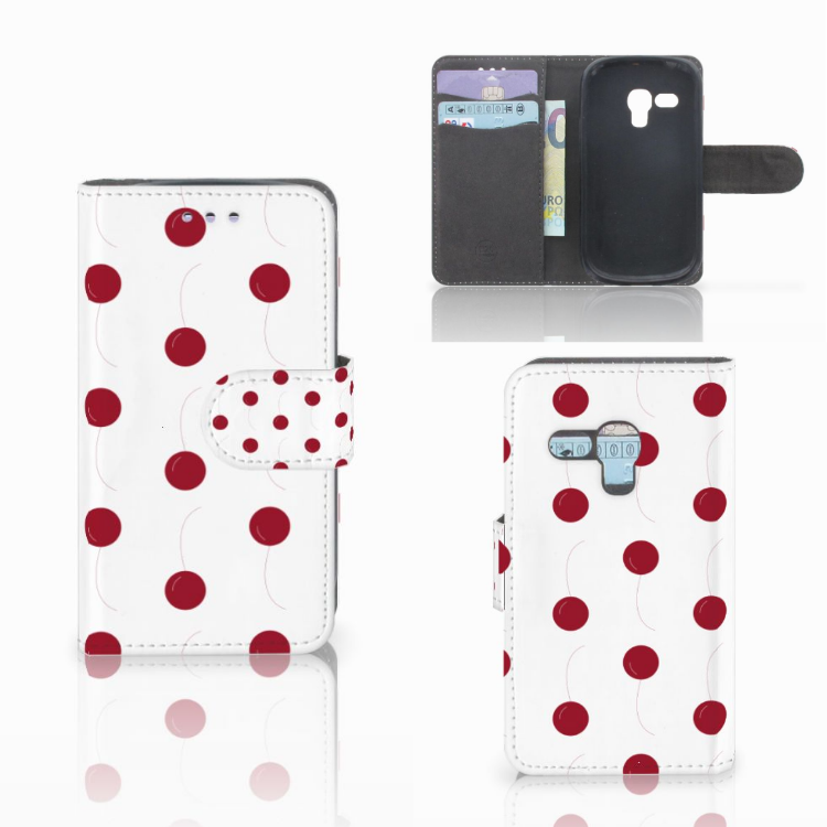 Samsung Galaxy S3 Mini Book Cover Cherries