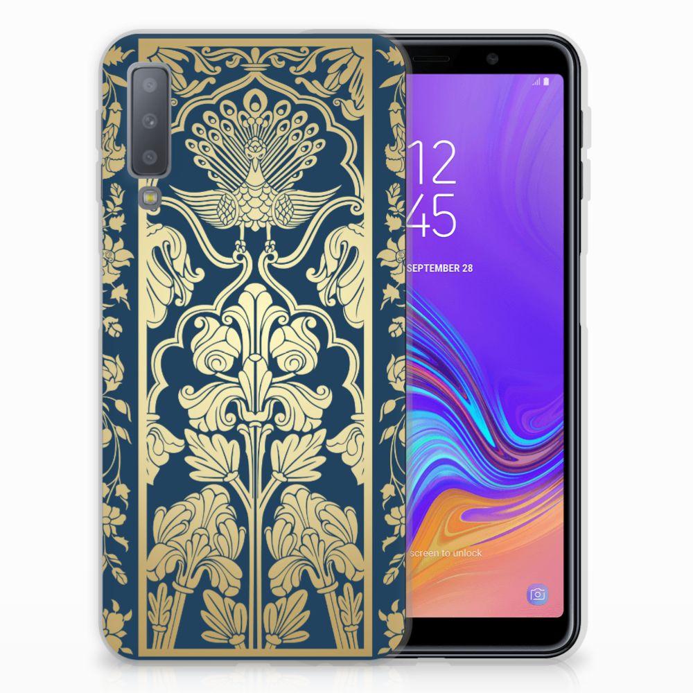 Samsung Galaxy A7 (2018) TPU Case Golden Flowers