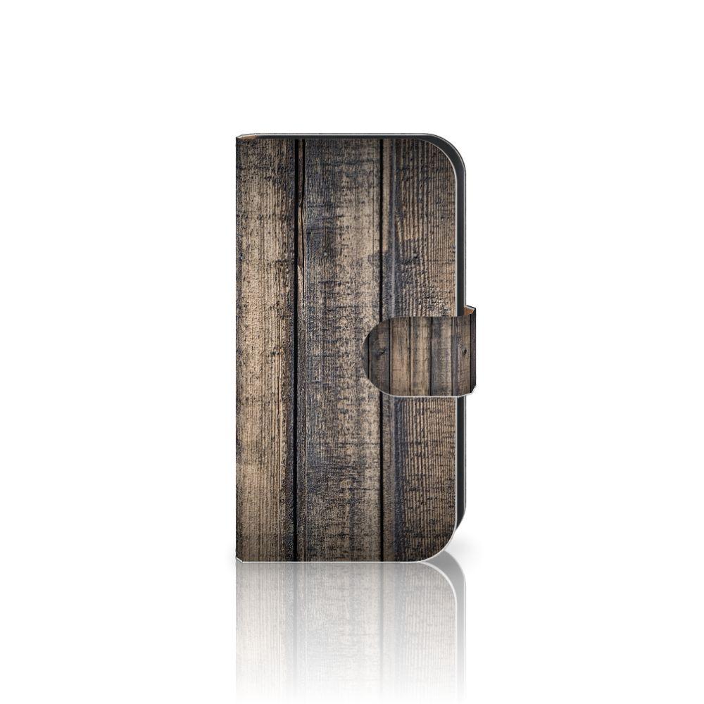 Samsung Galaxy Ace 4 4G (G357-FZ) Boekhoesje Design Steigerhout
