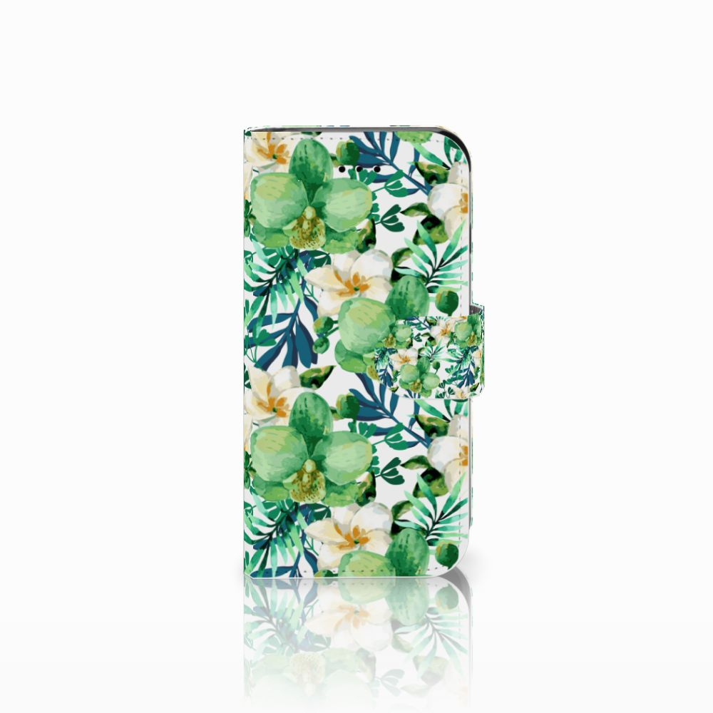 Apple iPhone 6 | 6s Uniek Boekhoesje Orchidee Groen