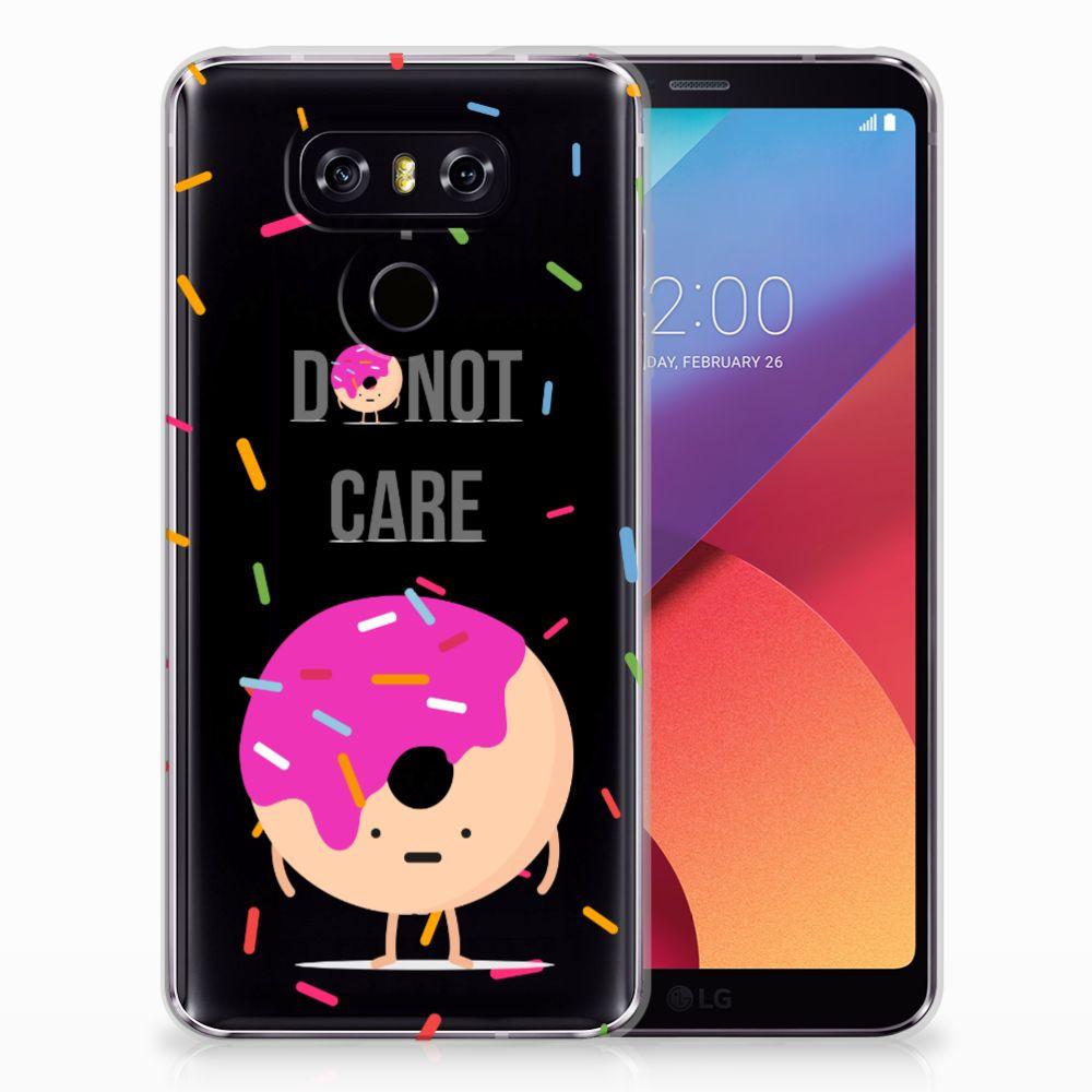 LG G6 Siliconen Case Donut Roze