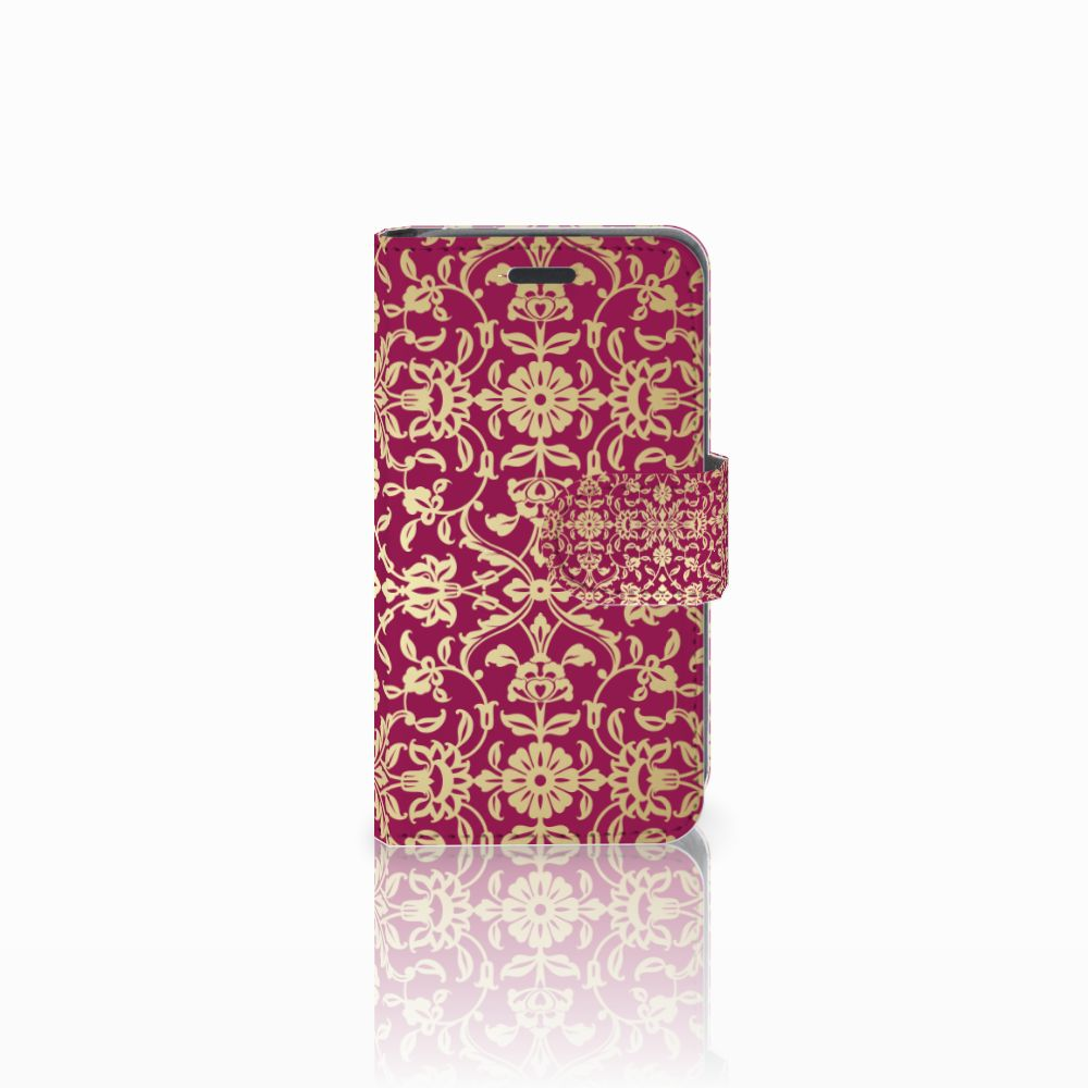 Wallet Case Nokia Lumia 520 Barok Pink