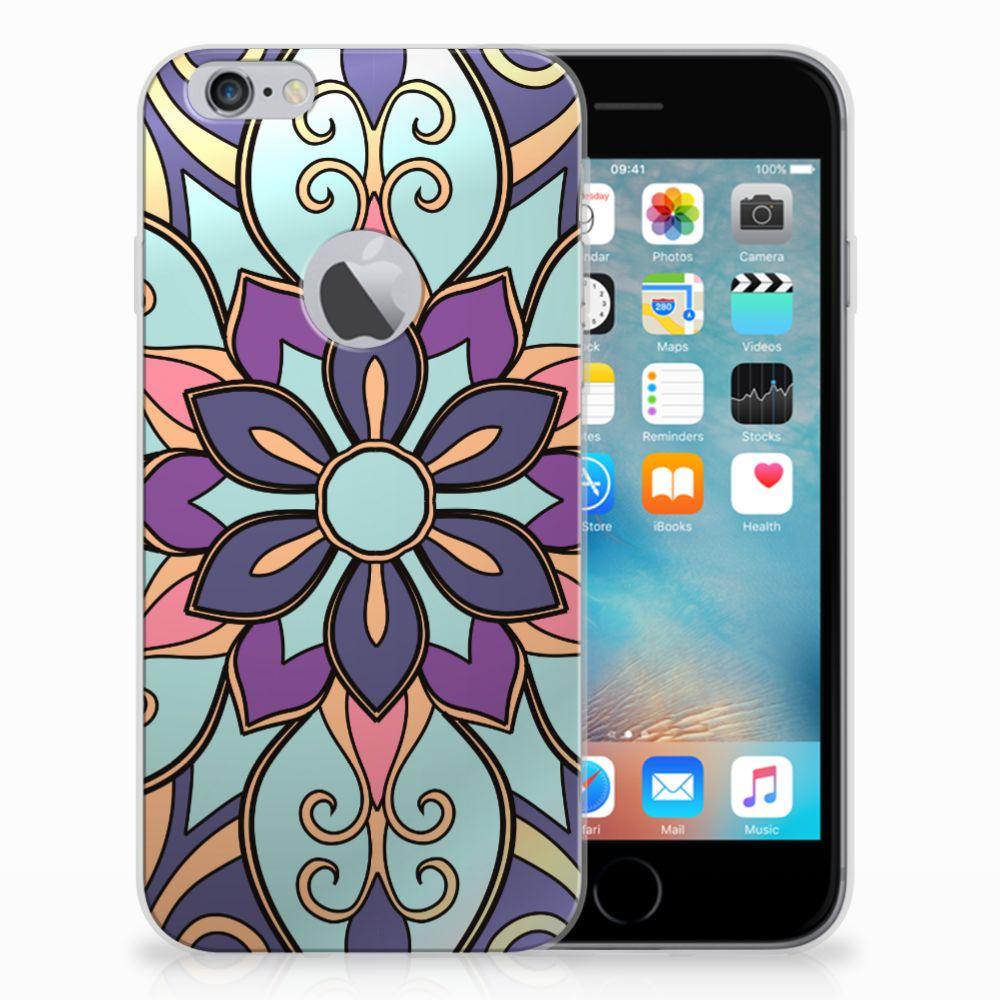Apple iPhone 6 Plus | 6s Plus TPU Case Purple Flower