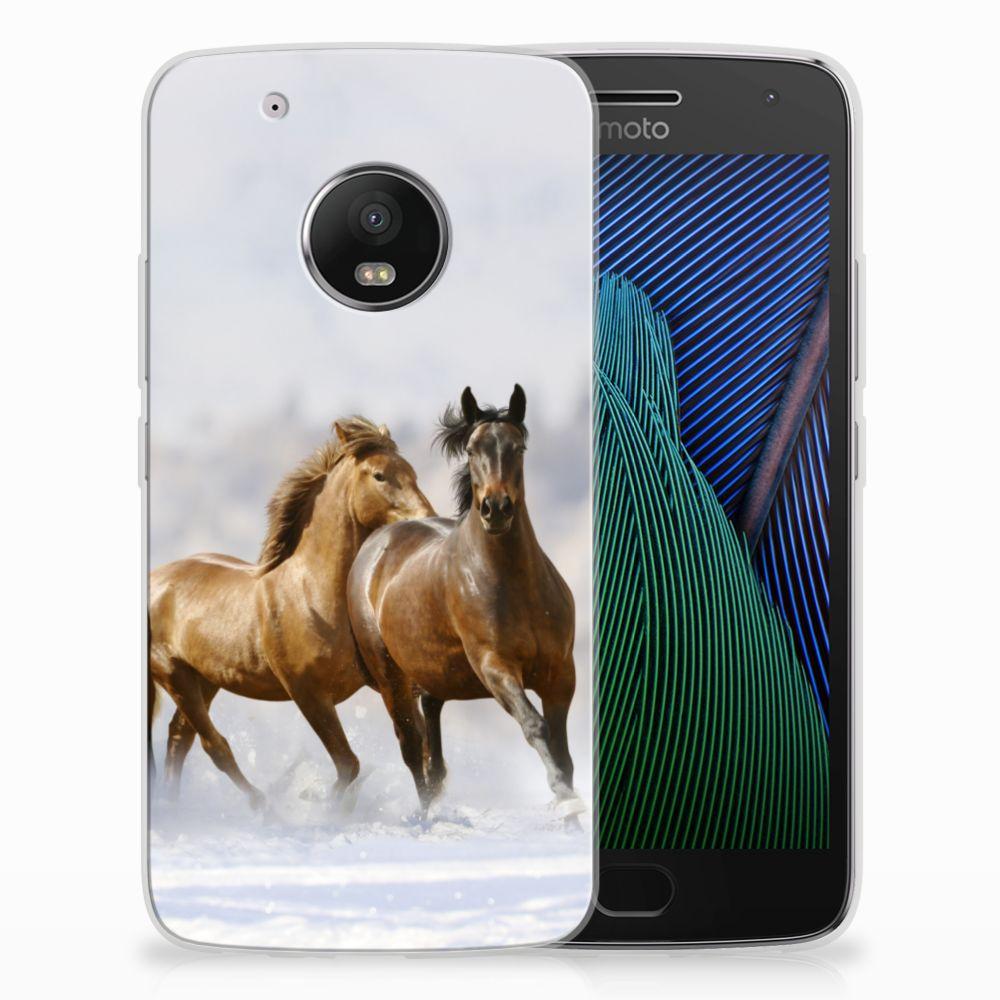 Motorola Moto G5 Plus TPU Hoesje Paarden