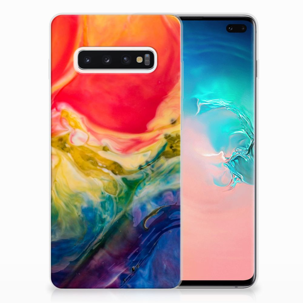 Hoesje maken Samsung Galaxy S10 Plus Watercolor Dark