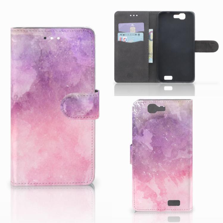 Hoesje Huawei Ascend G7 Pink Purple Paint