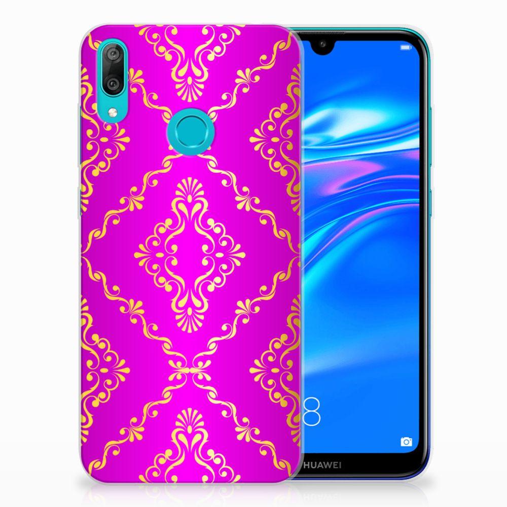 Siliconen Hoesje Huawei Y7 2019 Barok Roze